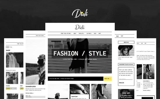 didi wordpress theme 01 - Top 20 Fresh Feminine & Minimal WordPress Themes