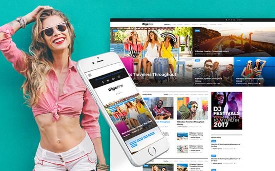 digizine wordpress theme 01 - Top 20 Fresh Feminine & Minimal WordPress Themes