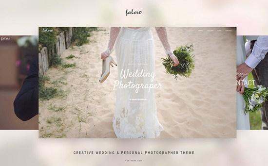 falero wordpress theme 01 - Top 20 Fresh Feminine & Minimal WordPress Themes