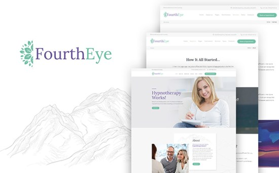fourtheye wordpress theme 01 - Top 20 Fresh Feminine & Minimal WordPress Themes