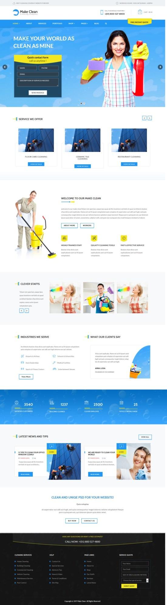 Make Clean WordPress Theme