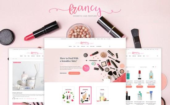 tm francy wordpress theme 01 - Top 20 Fresh Feminine & Minimal WordPress Themes