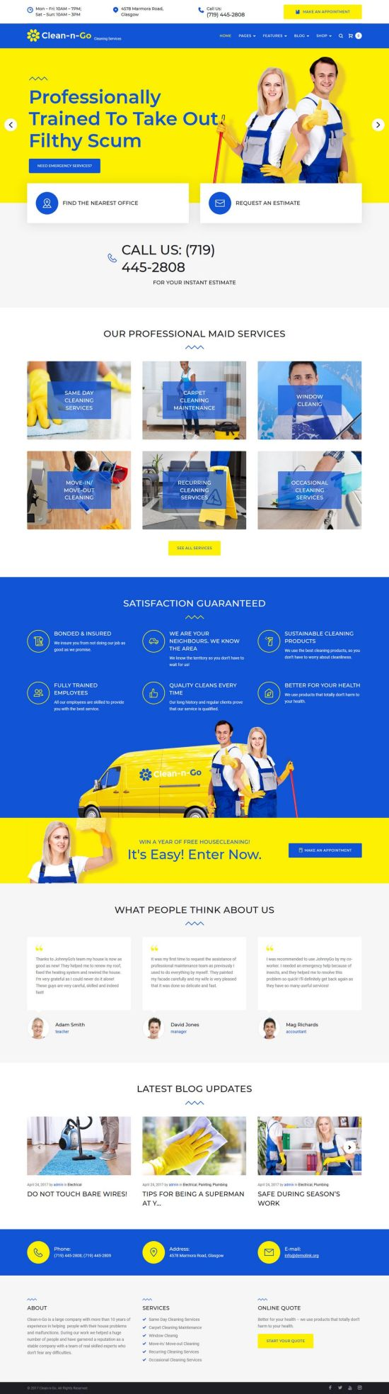 clean n go wordpress theme 01 - Clean-n-Go WordPress Theme