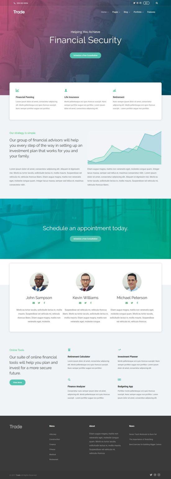 Theme Trust Trade WordPress Theme