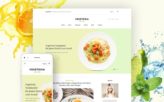 VegiFan: Vegetarian Meals Blog WordPress Site Design