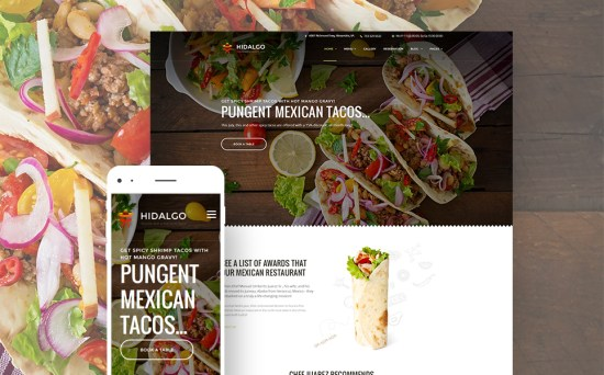 TacosFandom: Mexican Food Restaurant WordPress Site Design