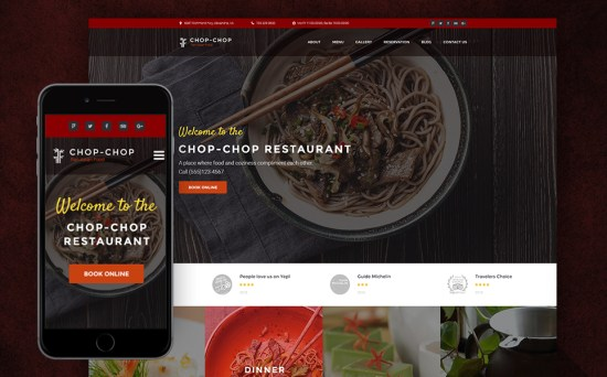 Travel East: Asian Restaurant Responsive WordPress Website