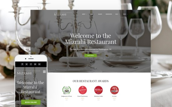 Stick to Tradition: Kosher Restaurant WordPress Site Design
