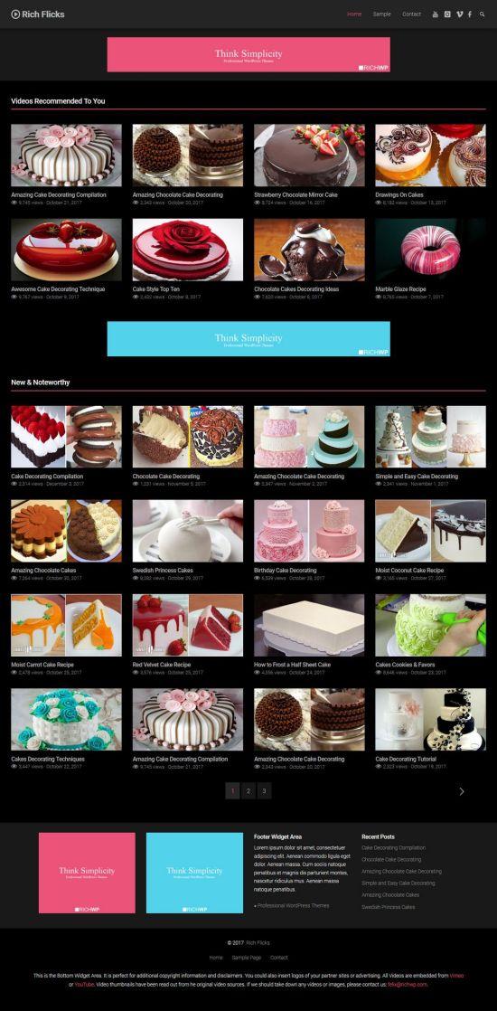 rich video fllicks wordpress theme 01 - Rich Video Flicks WordPress Theme