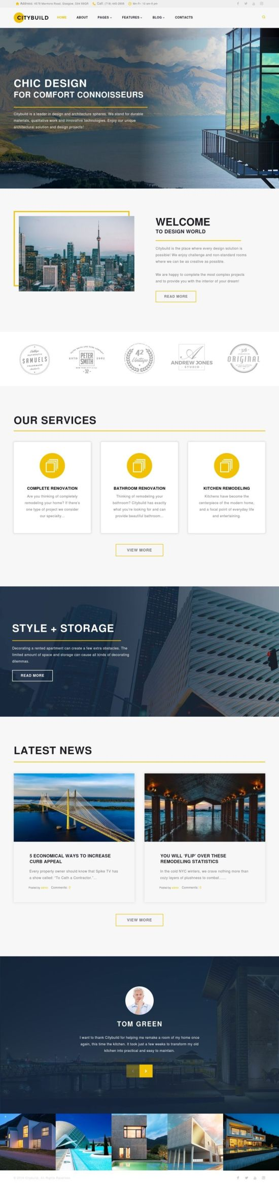 citybuild wordpress theme 01 - Citybuild Wordpress Theme