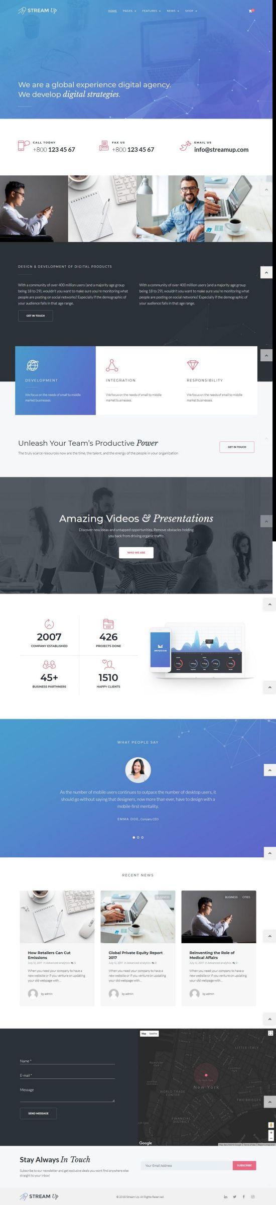 Stream UP WordPress Theme