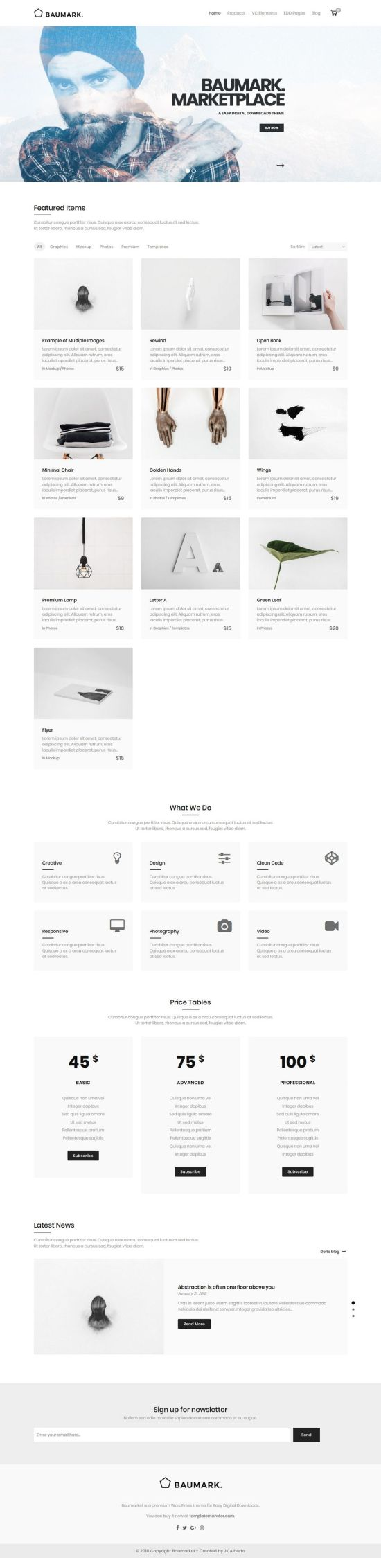 baumarket wordpress theme 01 - Baumarket WordPress Theme
