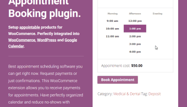 woocommerce appointments wordpress plugin 01 - Woocommerce Appointments WordPress Plugin
