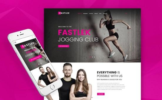Fastlek - Running Club & Coaching WordPress Theme