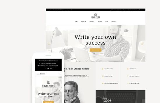 HousePress Publishing Company Fully Responsive WordPress Theme