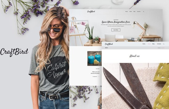 Craftbird Personal Blog For Handmade Art WordPress Theme