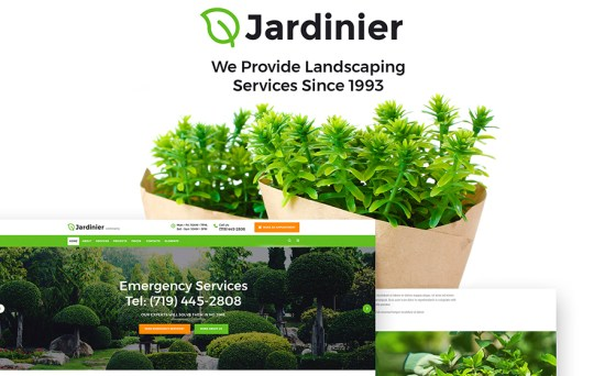 Jardinier Landscaping Services Fully Responsive WordPress Theme