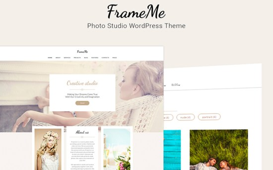 FrameMe - Nice Photography Studio WordPress Theme