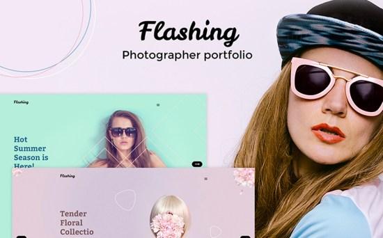 Flashing - Photographer & Design Portfolio WordPress Theme