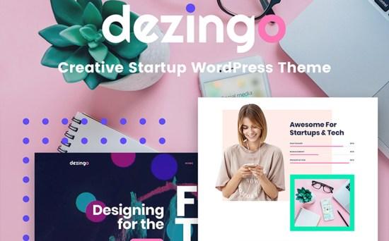 Dezingo - Creative Design & Photography Startup WordPress Theme