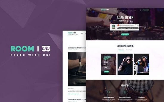 Room 33 - Bright Audio Shop WordPress Theme
