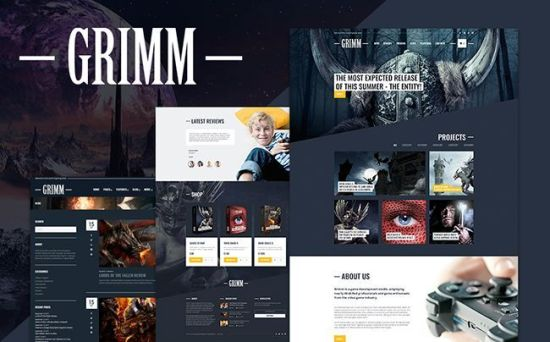 Grimm - Excellent Game Development Studio WordPress Theme