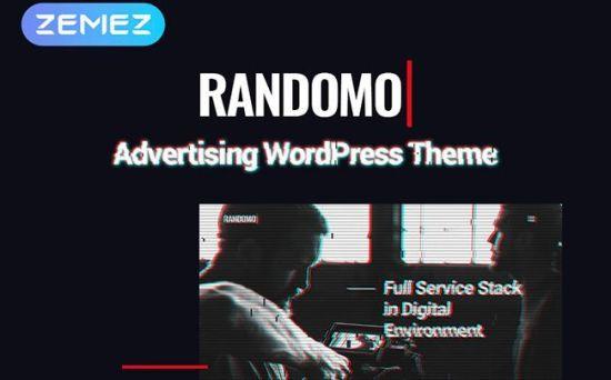Randomo - Unique Management & Marketing Agency WordPress Theme