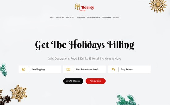 Bounty Store - Impressive Christmas Landing Page Template