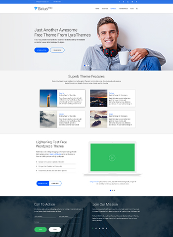 siris pro 1 - LyraThemes WordPress Themes