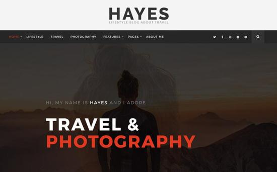 Hayes WordPress Theme