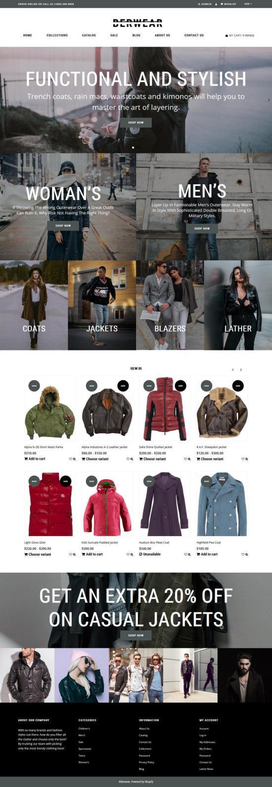 berwear shopify theme 01 - Berwear Shopify Theme
