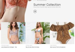 bikini swimwear prestashop theme 01 - Bikini Swimwear PrestaShop Theme
