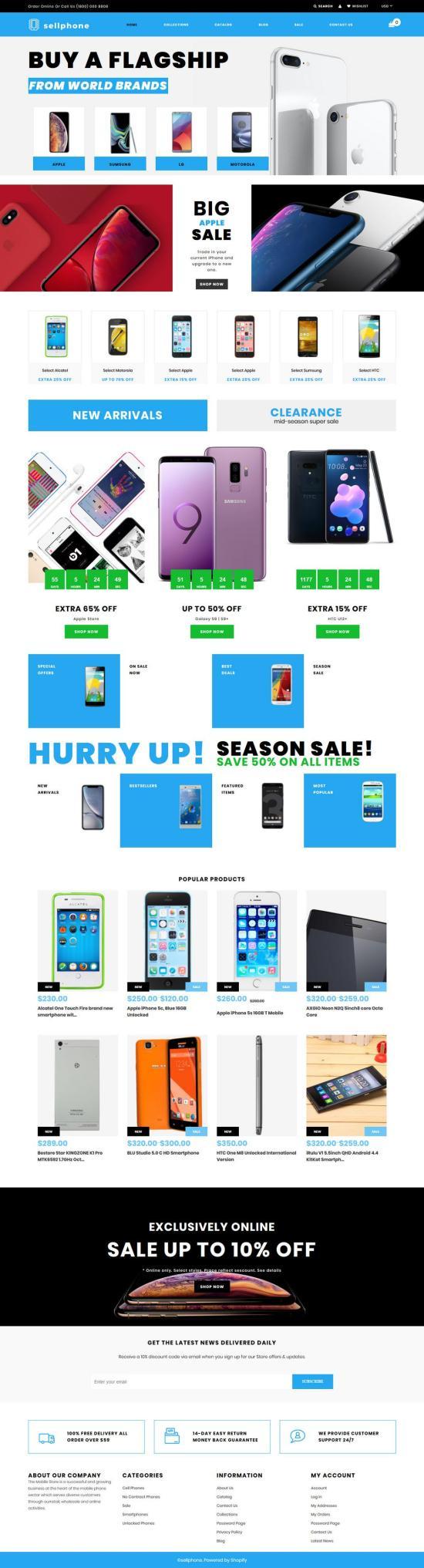 Sellphone Shopify Theme