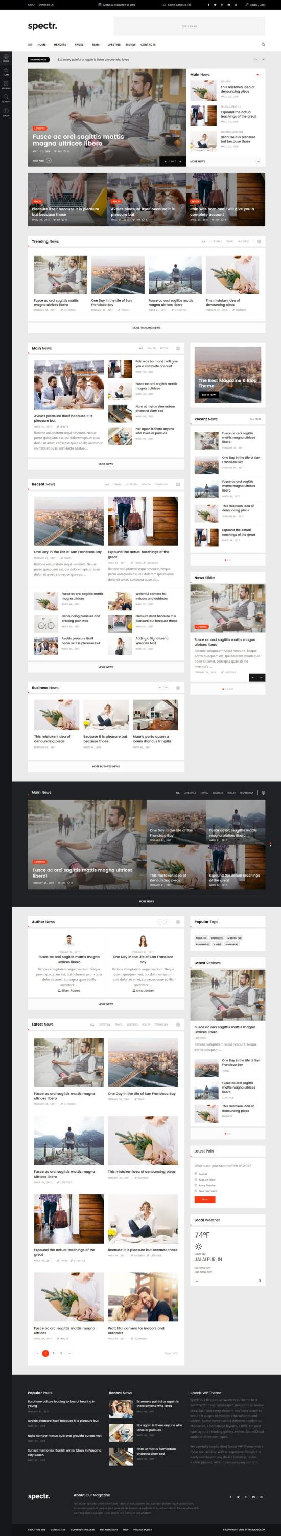 Spectr WordPress Theme