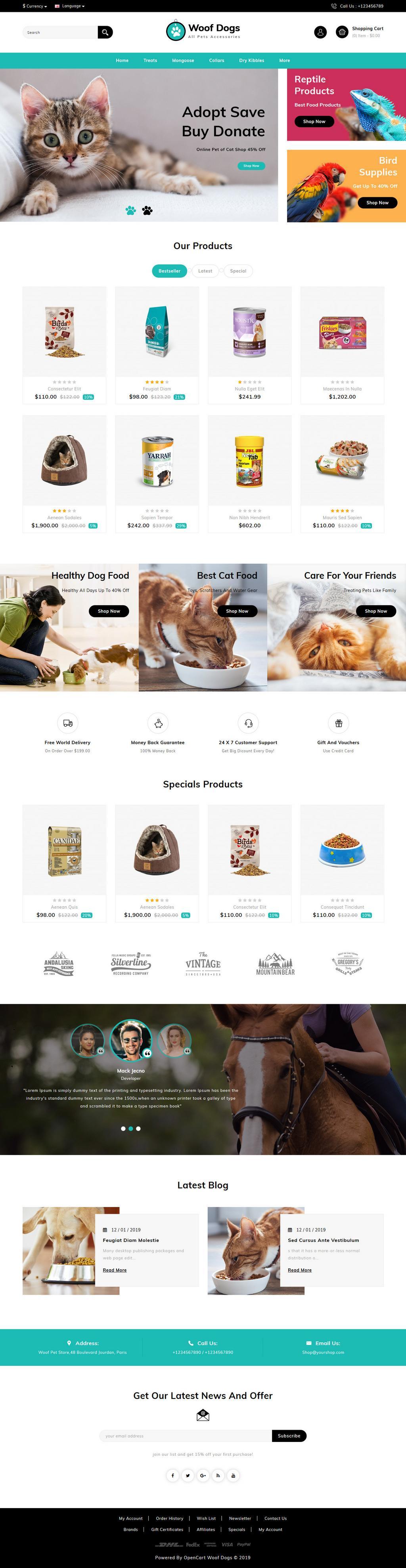 Woofdog Opencart Theme - AVJ Themes