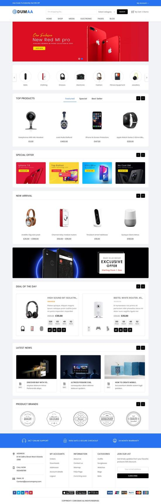 Dumaa WordPress Theme