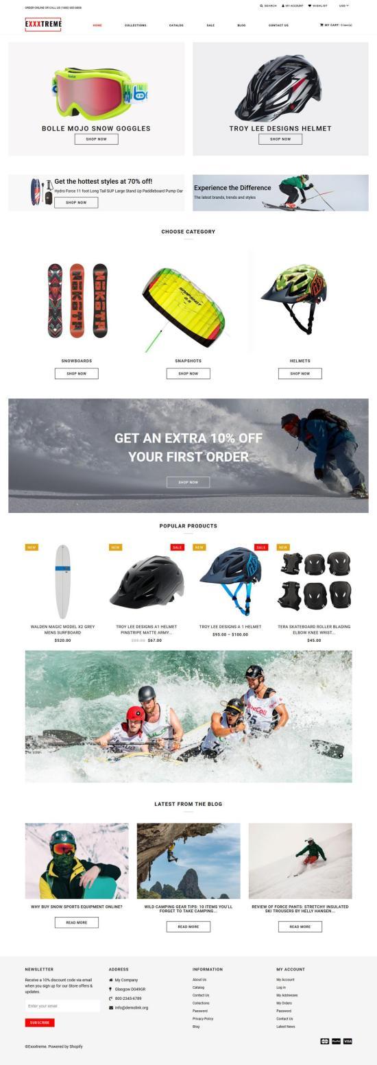 Exxtreme Shopify Theme Preview