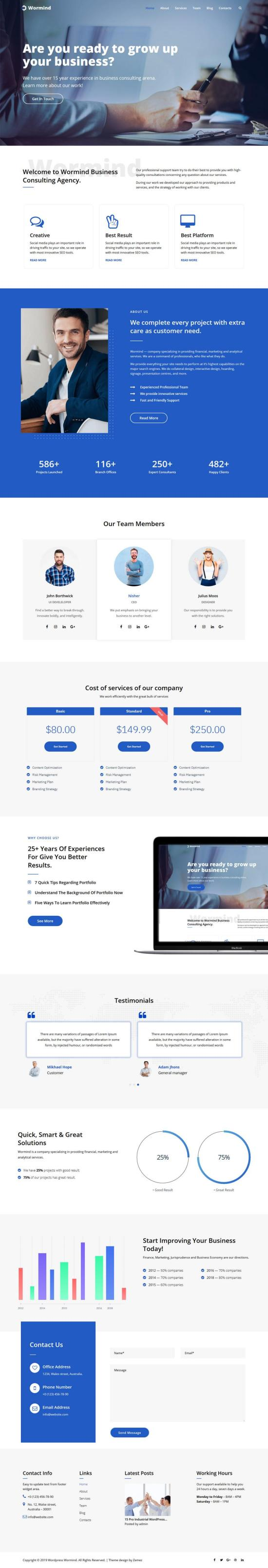 wormind wordpress theme 01 - Worming WordPress Theme