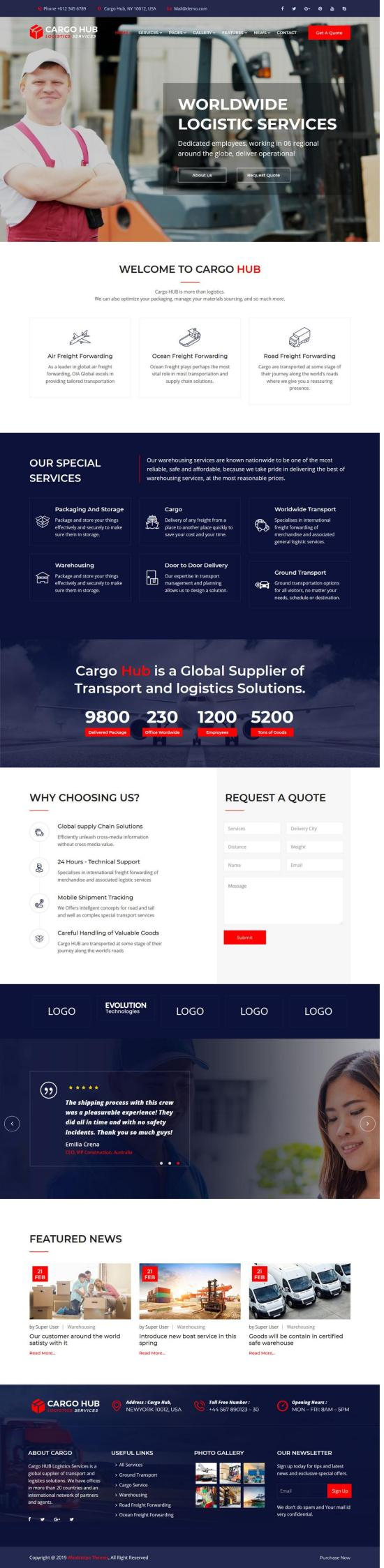Cargo HUB Joomla Template Preview