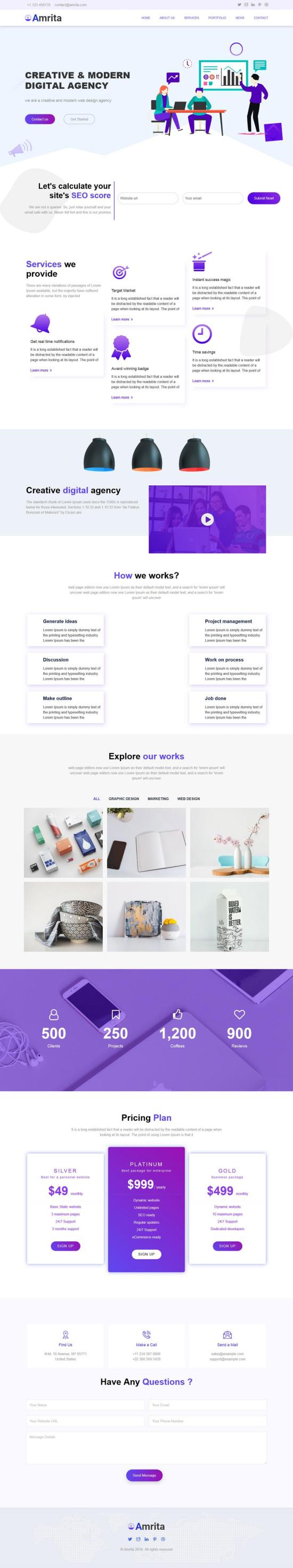 amrita wordpress theme 01 - Amrita WordPress Theme