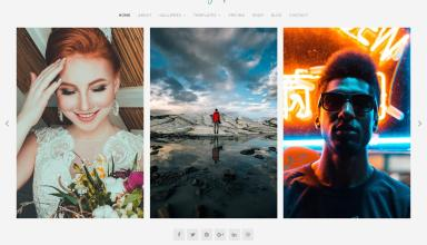 photographer wordpress theme 01 - Organic Photographer WordPress Theme