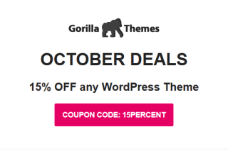 gorilla themes october 2019 01 - Gorilla Themes 15% Off On Any Theme (October 2019)