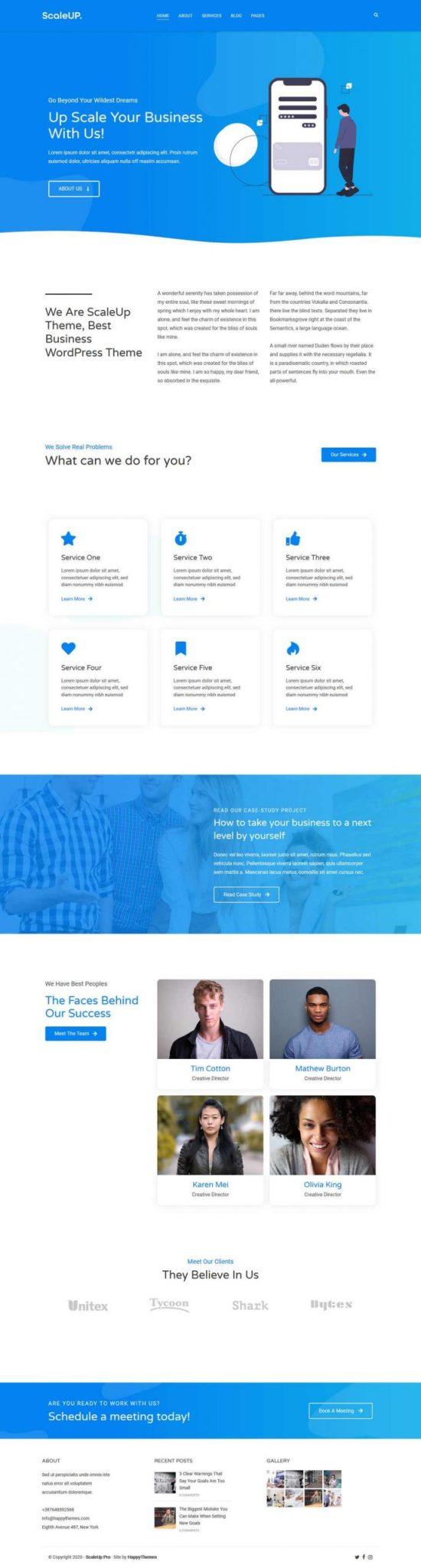 Scaleup WordPress Theme Demo