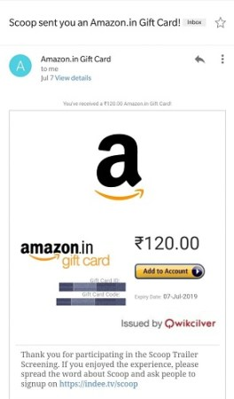 Scoop Offer - Give Feedback & Get Free Rs.120 Paytm / Amazon Voucher