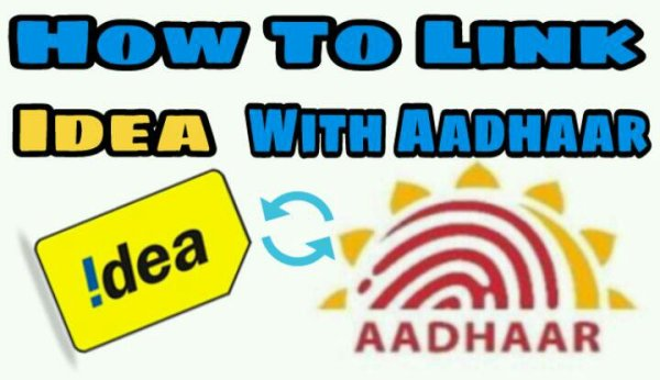Link aadhaar with Idea Mobile Number Online & offline