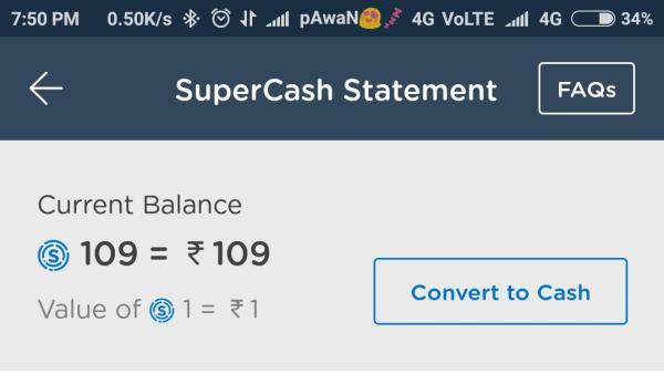 trick to convert mobikwik supercash