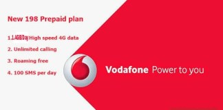 Vodafone 198 Rs Plan - Get 1.4 GB/Day Data For 28 Days