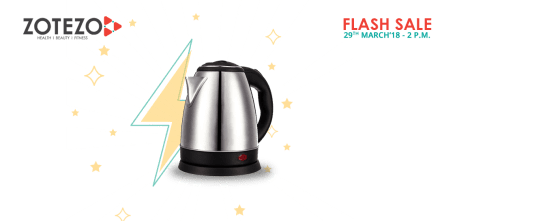 ZOTEZO Flash Sale : Buy Electric Kettle at Rs.1 Only (29th March @ 2PM)