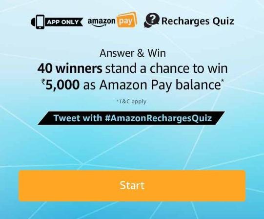 amazon recharge quiz answers