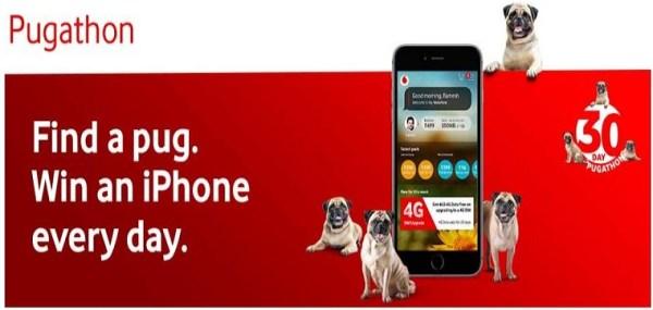 My Vodafone Pugathone - Find Pug & Win iPhone8 (*Pug Locations added*)